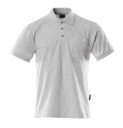 00783-260-08 Polo avec poche poitrine - Gris chiné