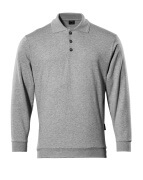 00785-280-08 Sweatshirt polo - Gris chiné