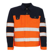 00909-860-141 Veste - Hi-vis orange/Marine