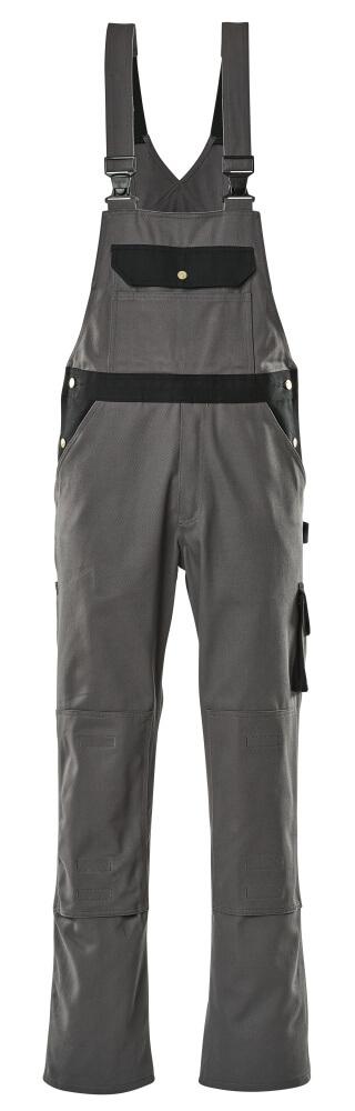 00962-630-8889 Salopette avec poches genouillères - Anthracite/Noir