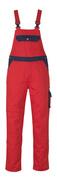 00969-430-21 Salopette avec poches genouillères - Rouge/Marine