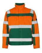 07109-860-1403 Veste - Hi-vis orange/Vert bouteille