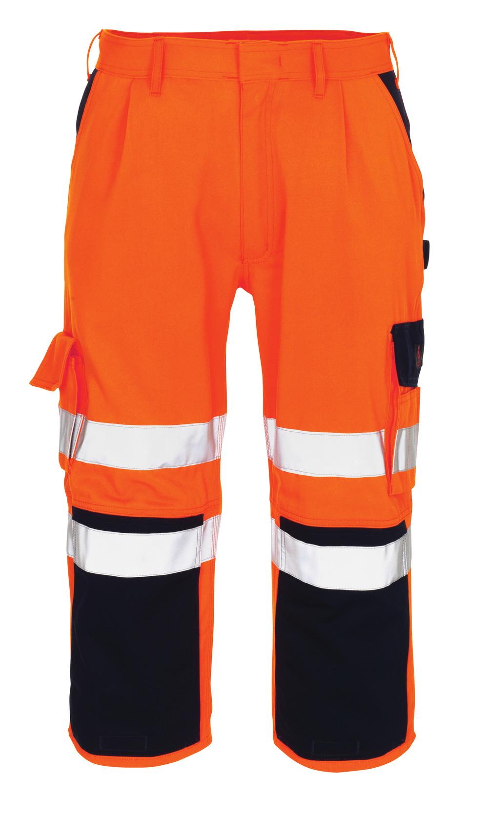 07149-860-141 Pantacourt avec poches gensouillères - Hi-vis orange/Marine