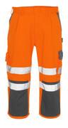 07149-860-14888 Pantacourt avec poches gensouillères - Hi-vis orange/Anthracite