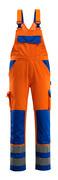 07169-860-1411 Salopette avec poches genouillères - Hi-vis orange/Bleu roi