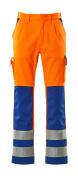 07179-860-1411 Pantalon avec poches genouillères - Hi-vis orange/Bleu roi