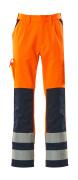 07179-860-141 Pantalon avec poches genouillères - Hi-vis orange/Marine