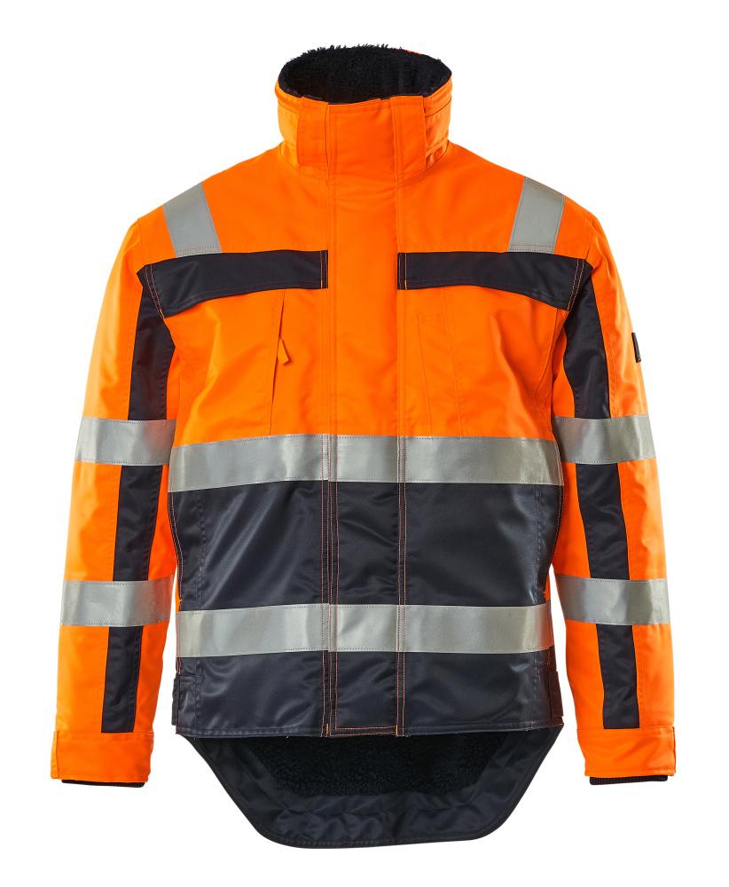 07223-880-141 Veste grand froid - Hi-vis orange/Marine