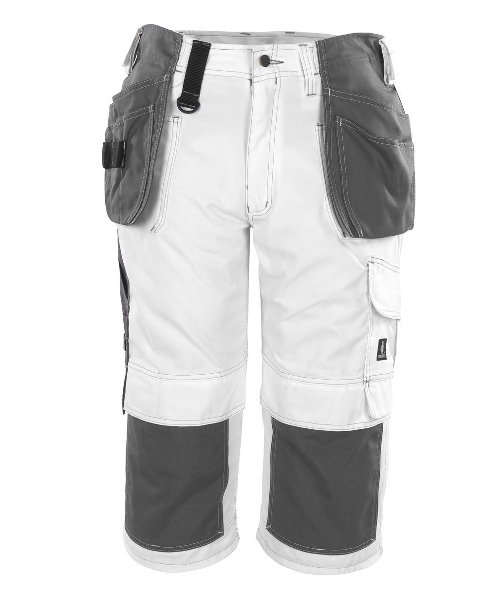 08349-154-06 Pantacourt avec poches genouillères et poches flottantes - Blanc