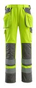 09131-470-17888 Pantalon avec poches genouillères et poches flottantes - Hi-vis jaune/Anthracite