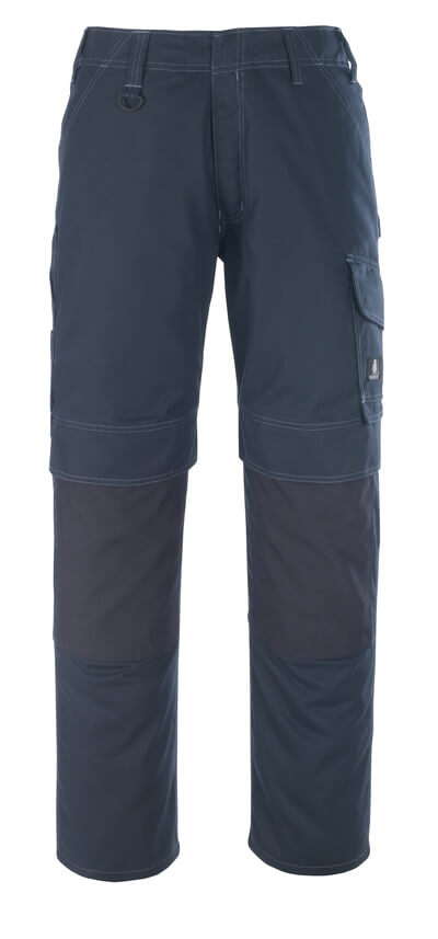 10179-154-010 Pantalon avec poches genouillères - Marine foncé