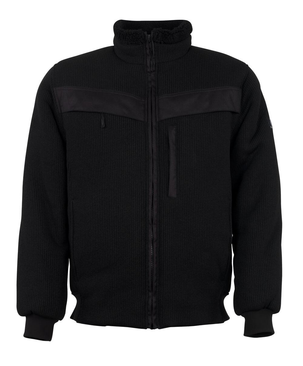 11043-600-09 Veste tricot zippé - Noir