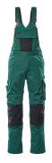 12169-442-0309 Salopette avec poches genouillères - Vert bouteille/Noir