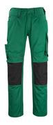 12179-203-0309 Pantalon avec poches genouillères - Vert bouteille/Noir