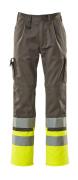 12379-430-88817 Pantalon avec poches genouillères - Anthracite/Hi-vis jaune