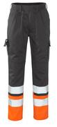 12379-430-B01 Pantalon avec poches genouillères - Anthracite/Hi-vis orange