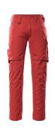 12579-442-0209 Pantalon avec poches cuisse - Rouge/Noir