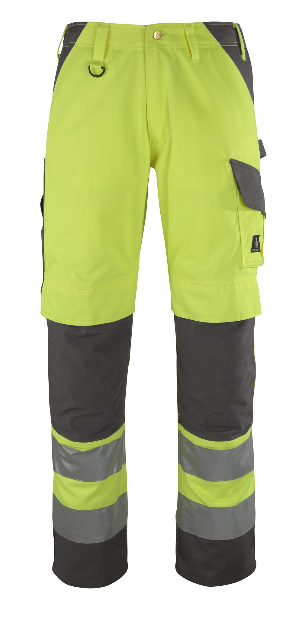 13479-470-17888 Pantalon avec poches genouillères - Hi-vis jaune/Anthracite
