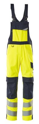 13869-216-17010 Salopette avec poches genouillères - Hi-vis jaune/Marine foncé