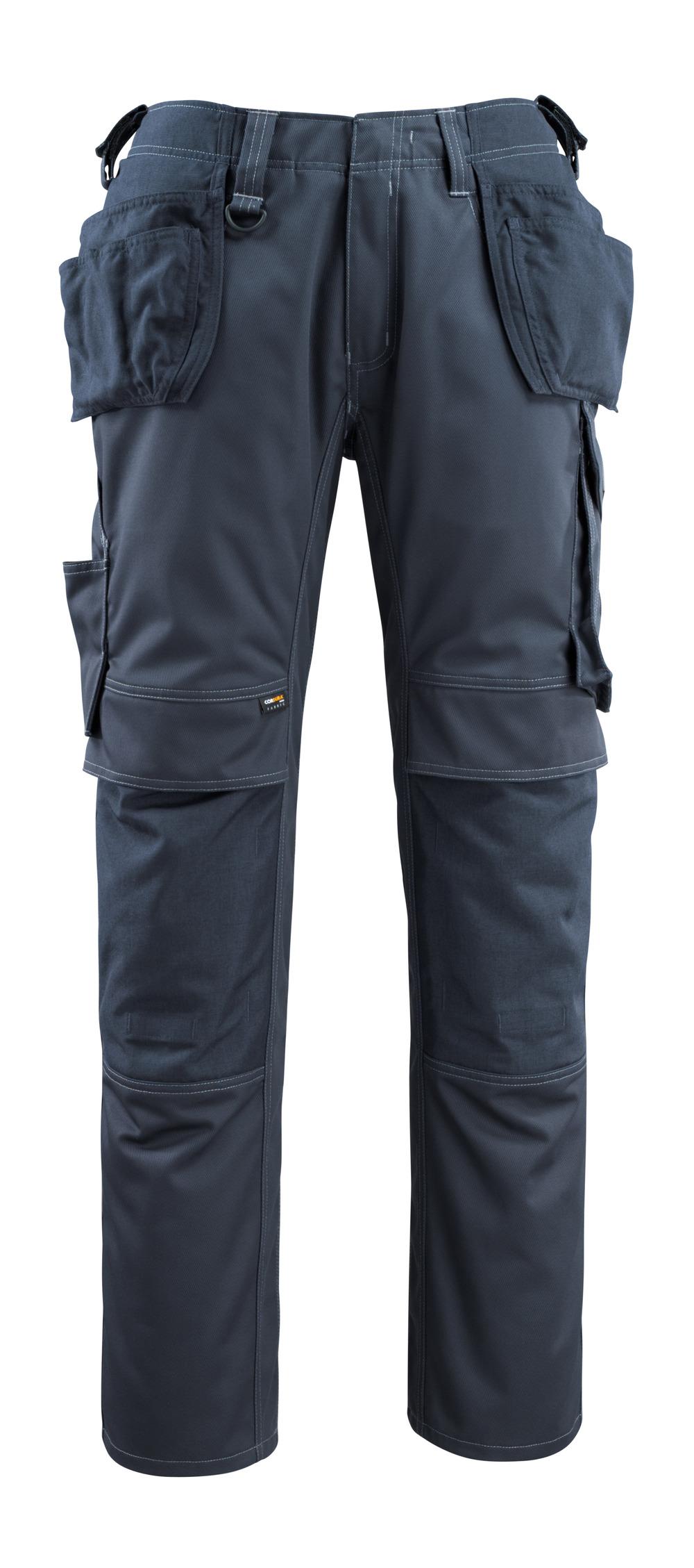 14131-203-010 Pantalon avec poches genouillères et poches flottantes - Marine foncé