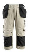 14349-442-5509 Pantacourt avec poches genouillères et poches flottantes - Sable clair/Noir