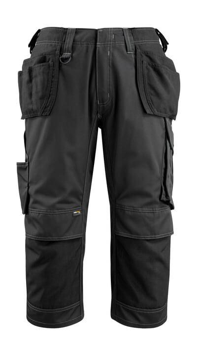 14449-442-09 Pantacourt avec poches genouillères et poches flottantes - Noir