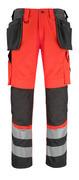 14931-860-A49 Pantalon avec poches genouillères et poches flottantes - Hi-vis rouge/Anthracite foncé