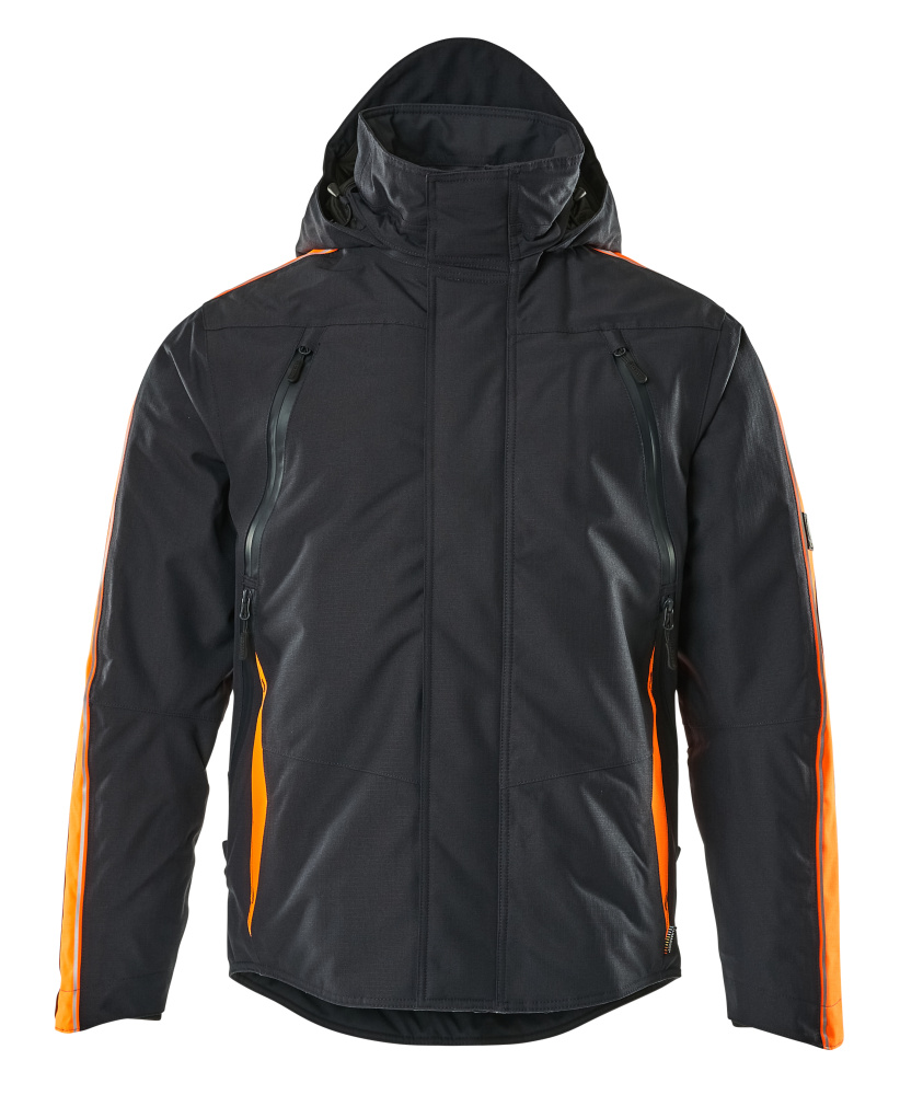 15035-222-01014 Veste grand froid - Marine foncé/Hi-vis orange