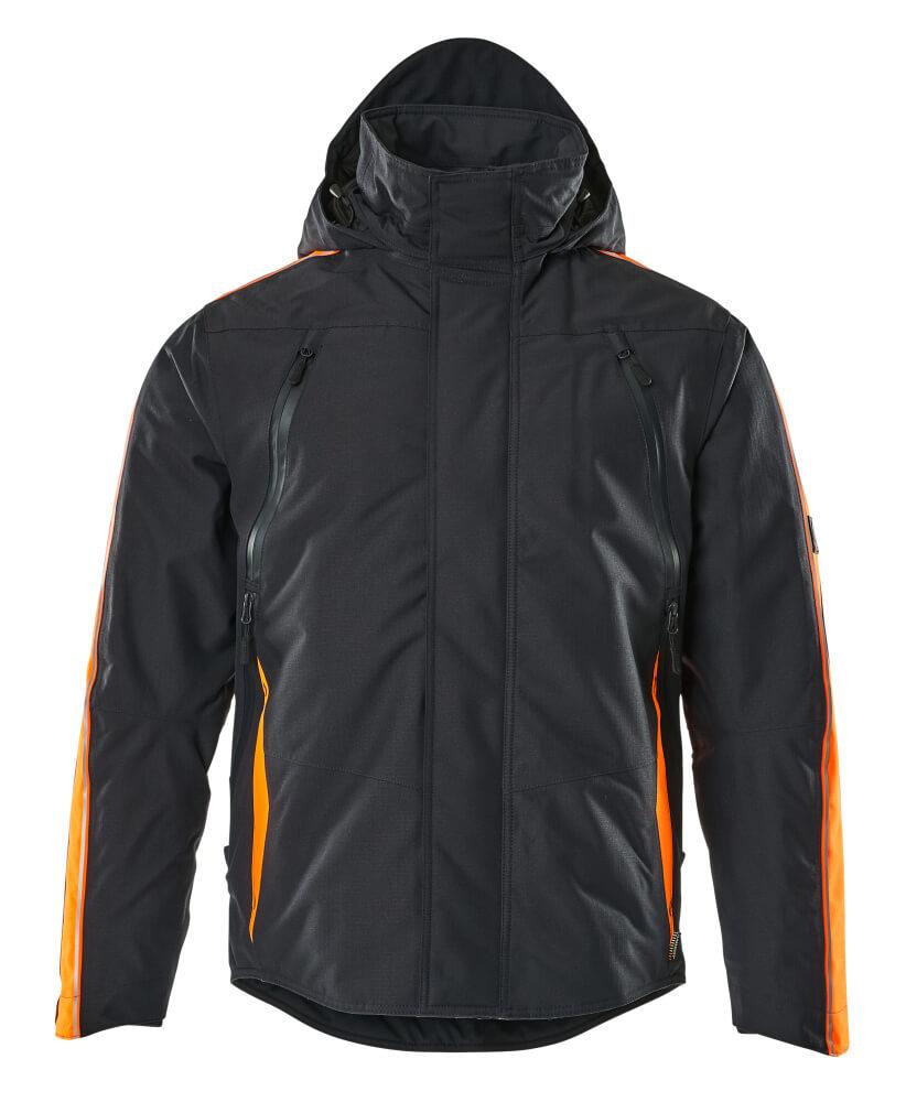 15035-222-01014 Veste grand froid - Marine foncé/Hi-vis orange