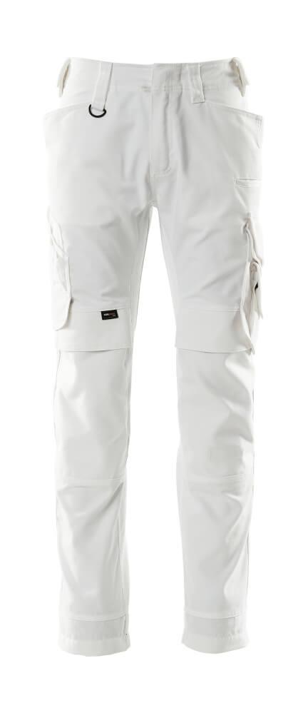 15079-010-06 Pantalon avec poches genouillères - Blanc