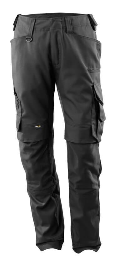 15079-010-09 Pantalon avec poches genouillères - Noir