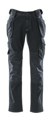 15131-207-86 Jeans avec poches genouillères et poches flottantes - Denim bleu foncé