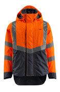 15501-231-14010 Veste d'extérieur - Hi-vis orange/Marine foncé