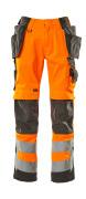 15531-860-1418 Pantalon avec poches genouillères et poches flottantes - Hi-vis orange/Anthracite foncé