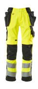 15531-860-1709 Pantalon avec poches genouillères et poches flottantes - Hi-vis jaune/Noir