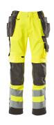 15531-860-1718 Pantalon avec poches genouillères et poches flottantes - Hi-vis jaune/Anthracite foncé