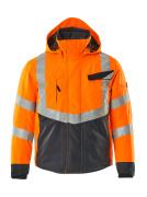 15535-231-14010 Veste grand froid - Hi-vis orange/Marine foncé
