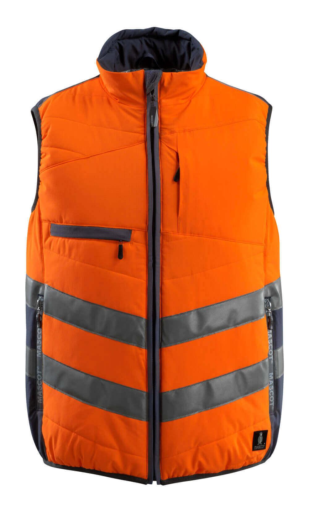 15565-249-14010 Gilet grand froid - Hi-vis orange/Marine foncé