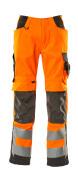 15579-860-1418 Pantalon avec poches genouillères - Hi-vis orange/Anthracite foncé