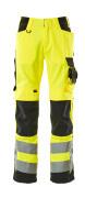 15579-860-1709 Pantalon avec poches genouillères - Hi-vis jaune/Noir