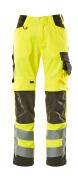 15579-860-1718 Pantalon avec poches genouillères - Hi-vis jaune/Anthracite foncé