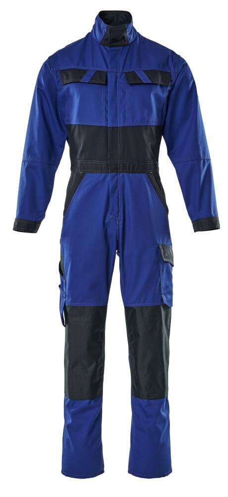 15719-330-11010 Combinaison avec poches genouillères - Bleu roi/Marine foncé
