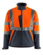 15902-253-14010 Veste softshell - Hi-vis orange/Marine foncé