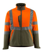 15902-253-1433 Veste softshell - Hi-vis orange/vert mousse