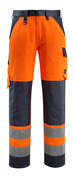 15979-948-14010 Pantalon avec poches genouillères - Hi-vis orange/Marine foncé