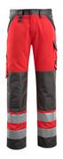 15979-948-22218 Pantalon avec poches genouillères - Hi-vis rouge/Anthracite foncé