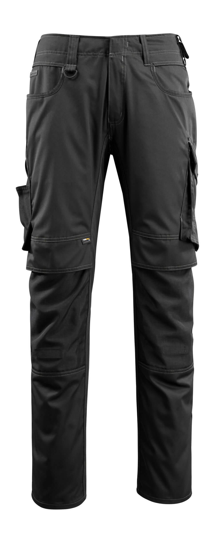 16079-230-09 Pantalon avec poches genouillères - Noir