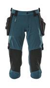 17049-311-44 Pantacourt avec poches genouillères et poches flottantes - Bleu pétrole foncé
