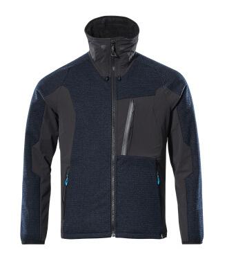 17105-309-01009 Veste tricot zippé - Marine foncé/Noir