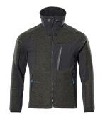 17105-309-3309 Veste tricot zippé - vert foncé/noir